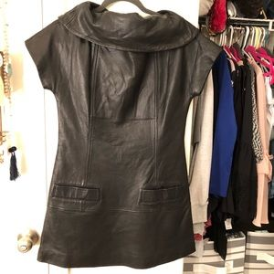 Marc by Marc Jacobs Leather runway dress